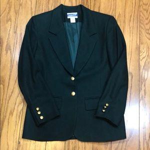 Vintage Pendleton Petite Green Wool Blazer